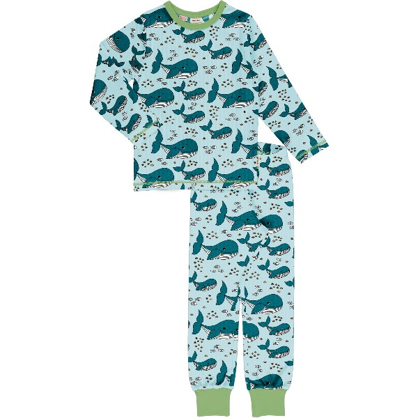 Pyjama Set LS Whale Waters